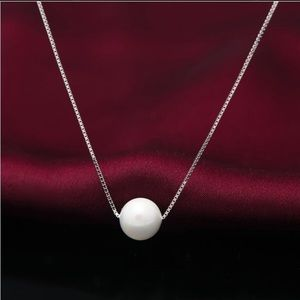 Pearl pendant silver necklace great quality